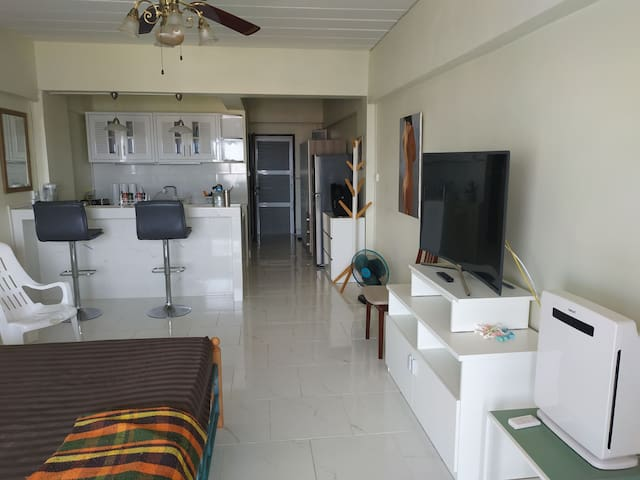 Near Big C,Sea view,swimming pool,King bed room
