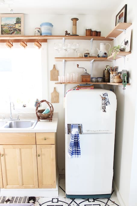 Grandpa's vintage Frigidaire- it's been running since the 1950's!