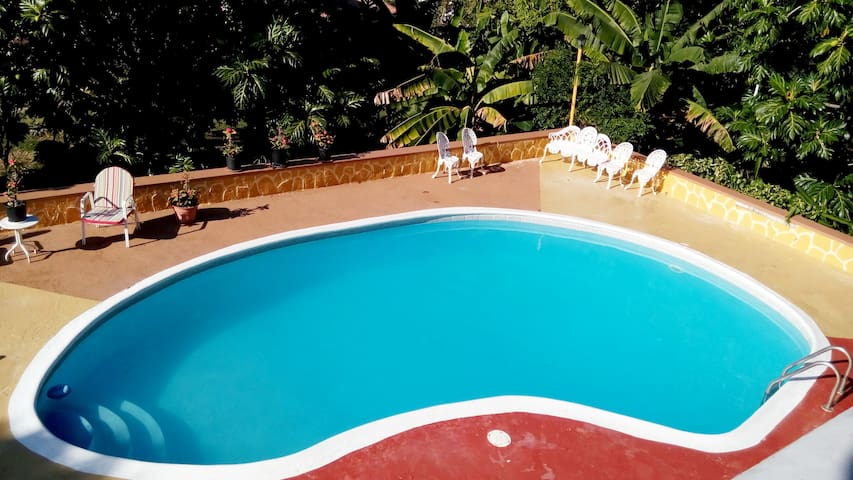 Sparkling clear pool