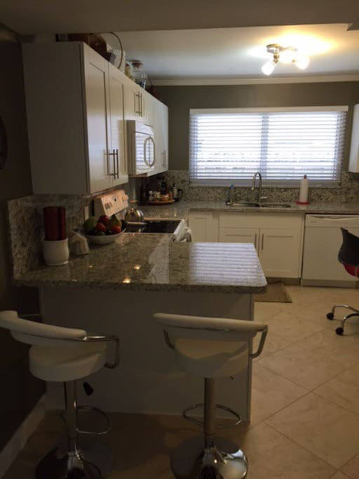 Brand new kitchen, appliances. Lots of cabinet space and room to cook.