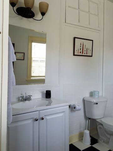large refurbished bathroom