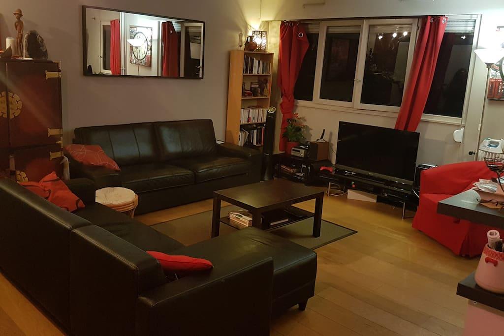 Salon ouvert sur cuisine / living room open on US kitchen (34 m2)
