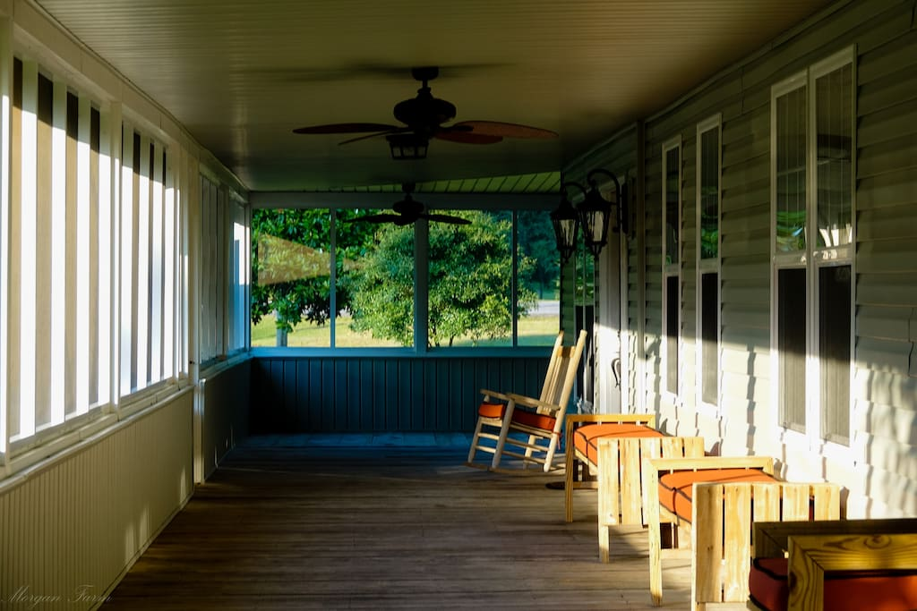 Relax on the large porch