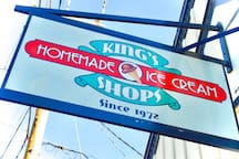 Summer Ice cream at Kings, just a short walk away.