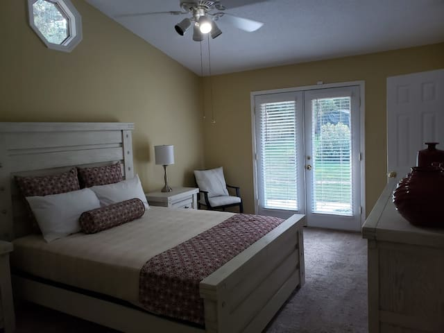 Master Bedroom with Private Entry to Backyard