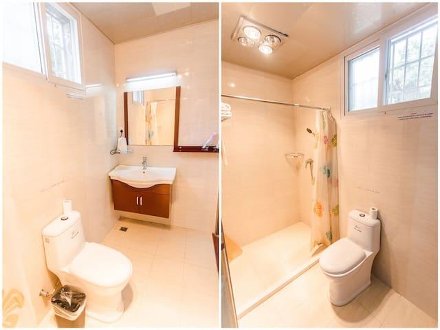 干净整洁设施齐全的盥洗室~
