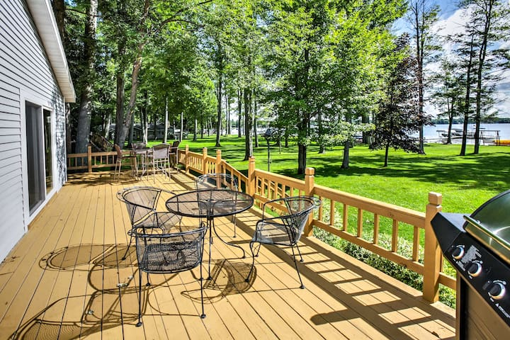 Lakefront Grayling House w/ Spacious Deck!