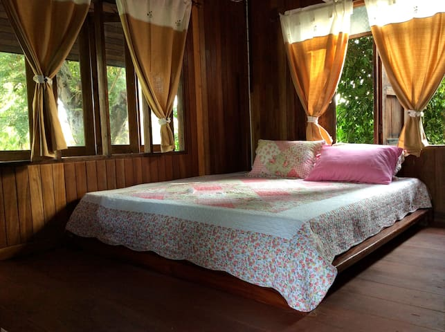 King size 6 ft. bed. Thai style bed