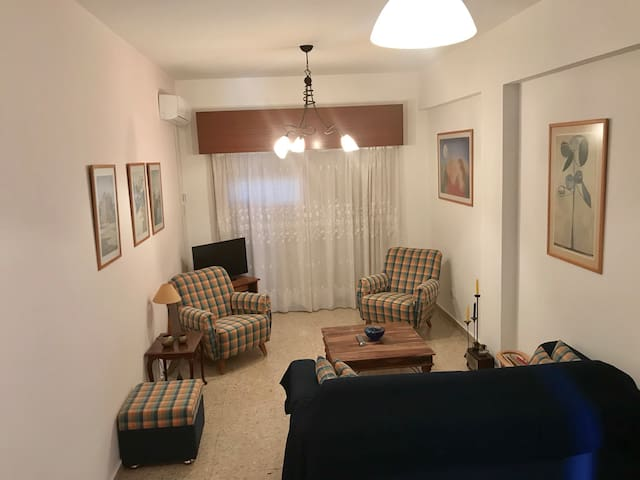 Acropolis-Nicosia 2BDR Apartment with 2Double Beds