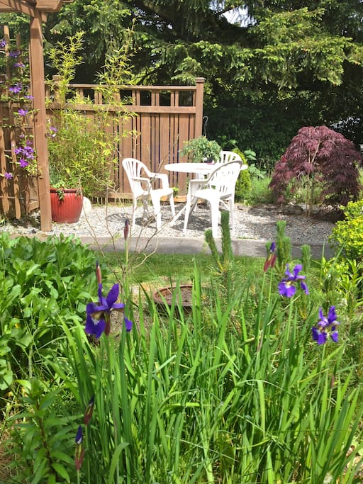 Beautiful garden space for relaxing and taking in the sunshine