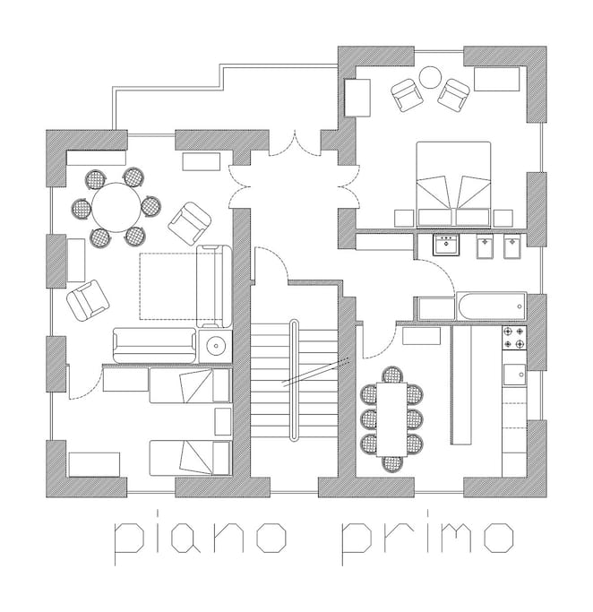 PIANTA PRIMO PIANO - FIRS FLOOR PLAN