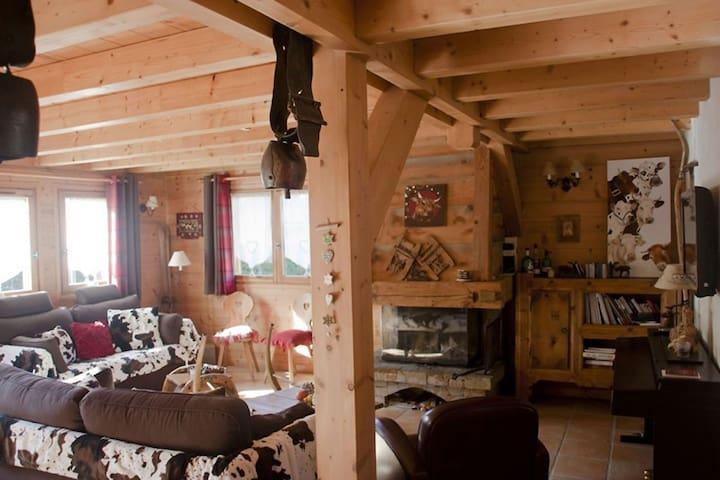 Joli chalet traditionnel savoyard non loin 1214 - Praz-sur-Arly - Casa