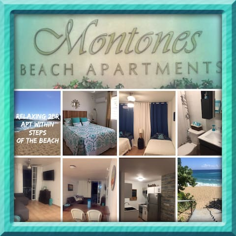 Relaxing 2br apartment steps away from the beach
