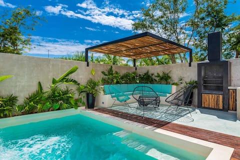 Casa Con alberca Privada y roof con asador