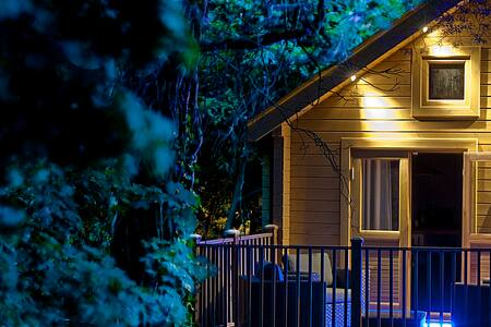 Alum Chine log cabin, great views, 5 mins to beach