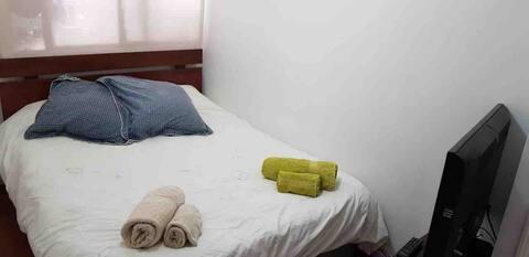 hab. doble + wifi y baño privado, mejor ubicación