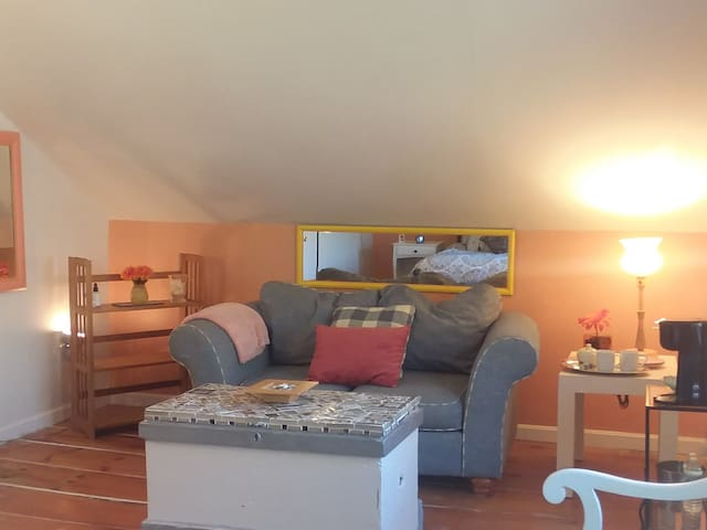 Tree House Room - equipped with a personal coffee maker, complimentary K-Cups & bottled water to help you start your day!