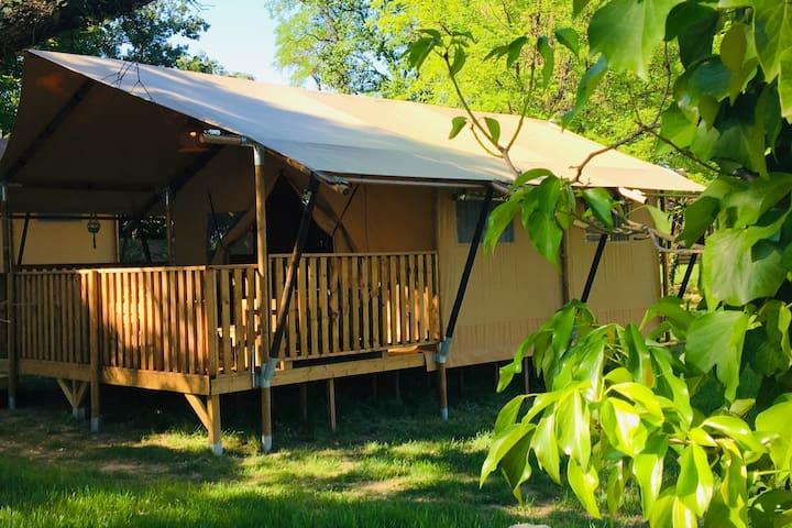 Tente Safari Lodge de Coucouzac in Ardeche