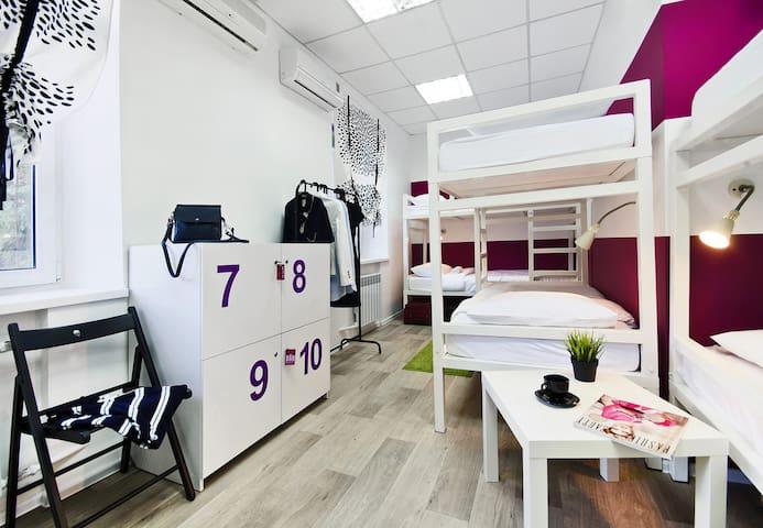 Кровать в 10-местном номере - Ростов-на-Дону - Bed & Breakfast