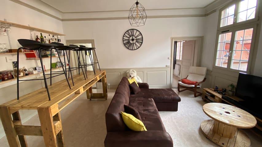 Appartement 3 pièces hyper centre avec garage