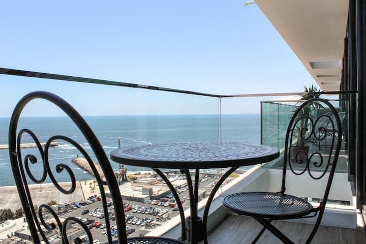 Espectacular Depto Studio de lujo en la mejor ubicación de Antofagasta, Servicio HOM (2308)