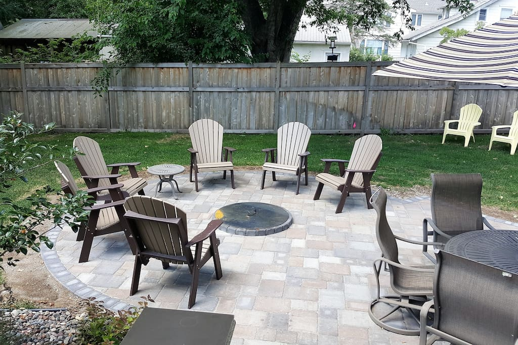 New Paver Patio with Firepit, Dining Table, Couches, & 2 grills