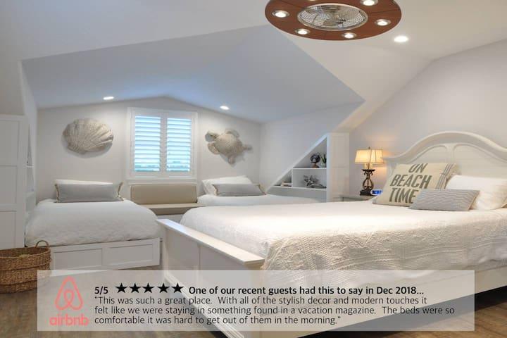 Second floor bedroom — sleeps 4