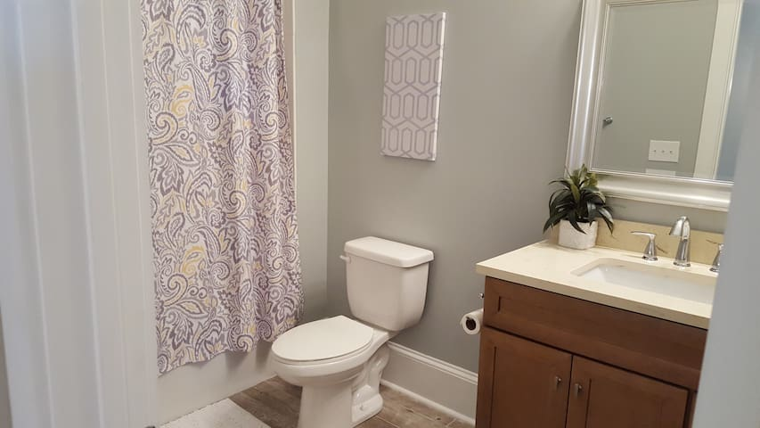 2nd Bathroom with bathtub and shower