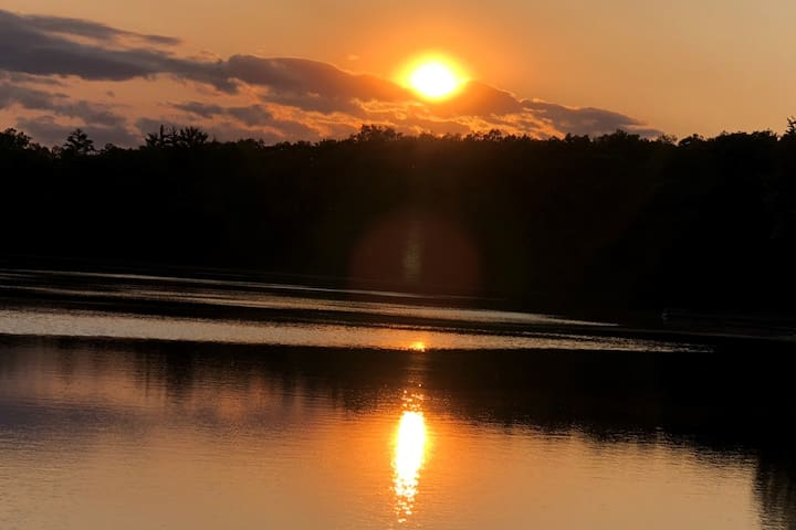 Awesome sunsets on a peaceful lake.