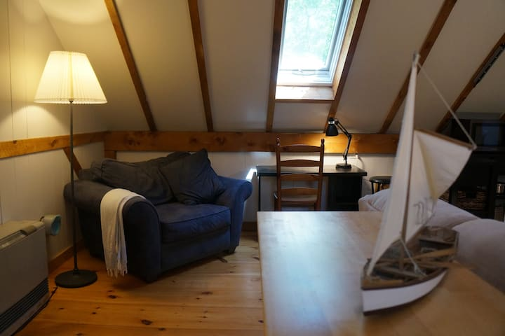 Cozy spot for reading on a rainy day or looking up which activities you'd like to do on the island!