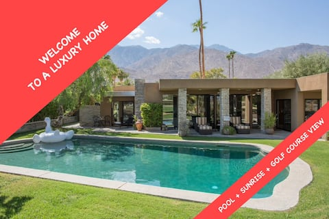 WELCOME TO A LUXURY HOME : POOL + SUNRISE + GOLF COURSE VIEW !