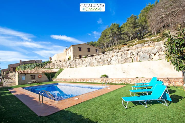 Villa Mas Godell in wine country! - Puigpelat - Huis