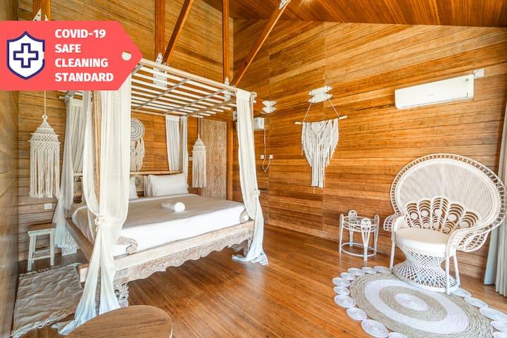 Umalas Eco-Lux Bohemian Bamboo Loft | STERILIZED