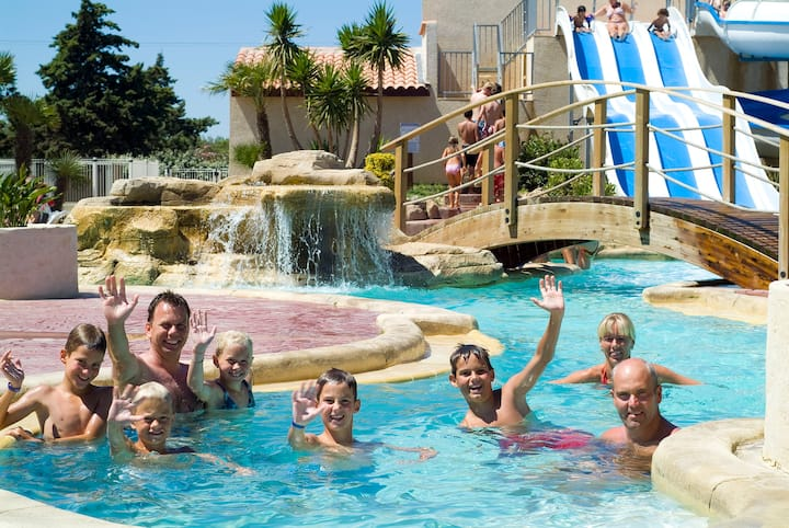 Camping Les Mûriers - Cottage VIP 3chs 6pers