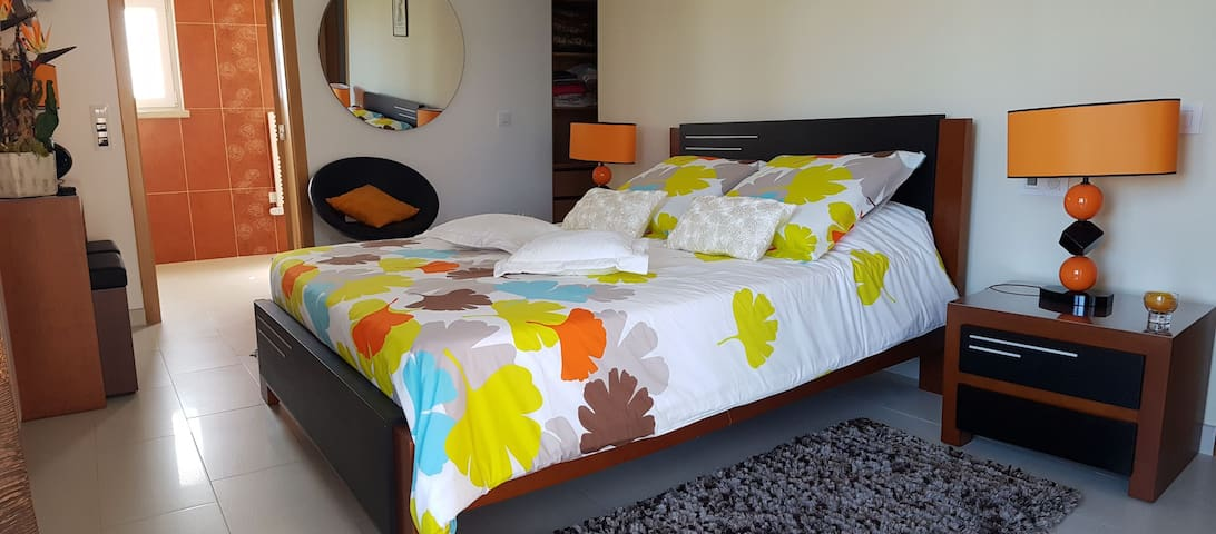 Grande chambre en suite+terrasse