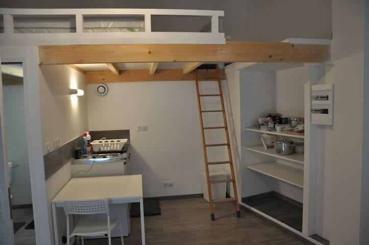 studio rénové centre village Anneyron