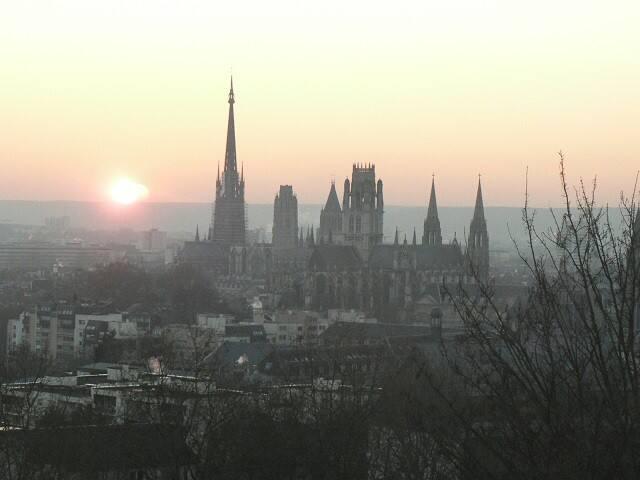 La vue au coucher du soleil