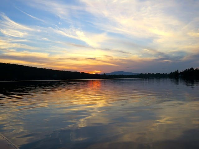 Sunset over Rangeley Lake - your evening view!
