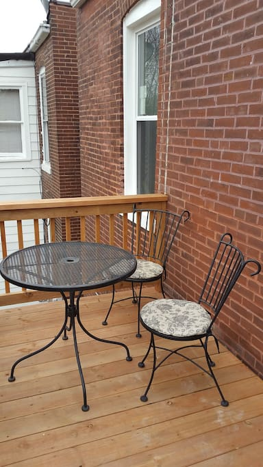 Private porch for guests to enjoy.