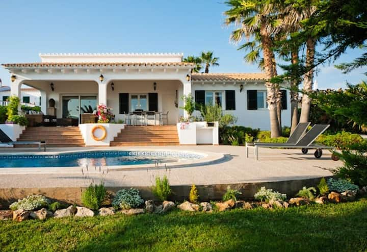Beautiful Villa Bini Cel with Pool, Air Conditioning, Wi-Fi, Terraces & Sea View; Parking Available