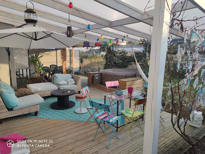 Maison 100m2,Montfort,Broceliande,garden