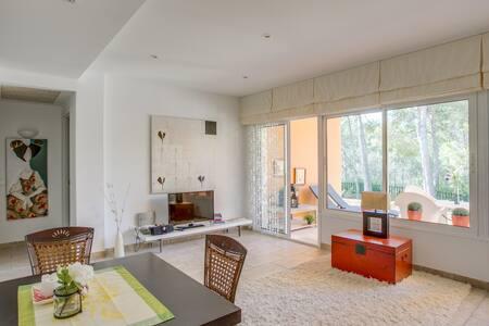 Garten-Wohnung Pool Klima Terrasse 150 m zum Meer - Cala Fornells