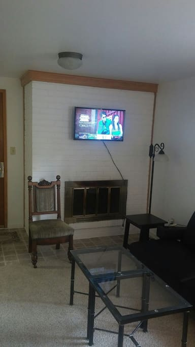 TV and living room.