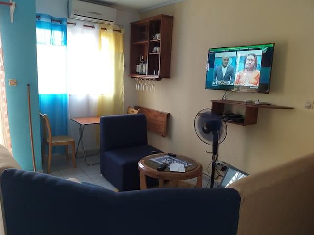 chambre privée dans un appartement gaie et calme