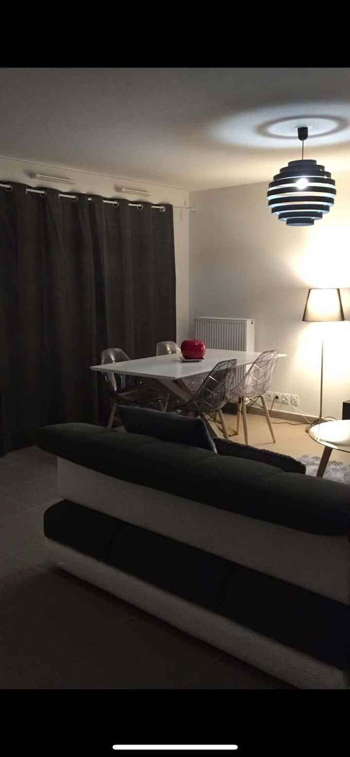 Chambre privée ds appartement neuf,proche suisse