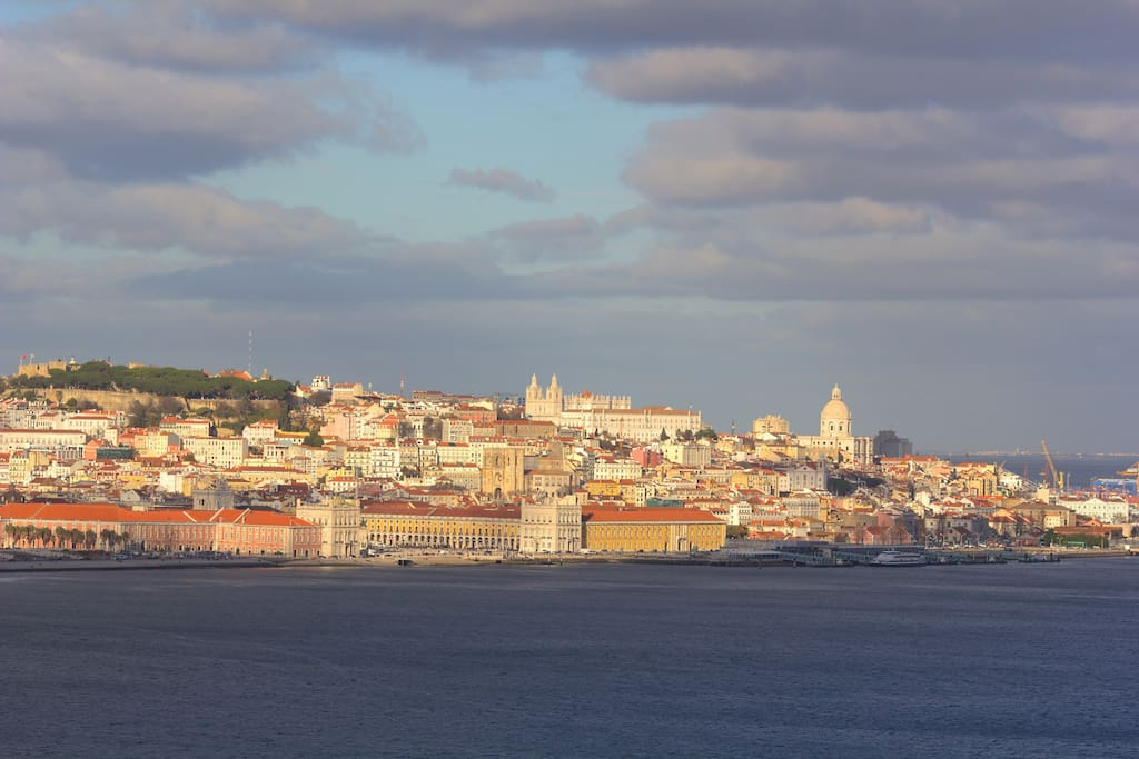 Amazing view over Lisbon and Tagus River