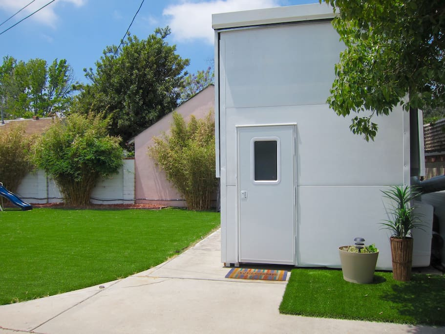 Glamping in a cozy container home in los angeles california united states - Container homes in los angeles ...
