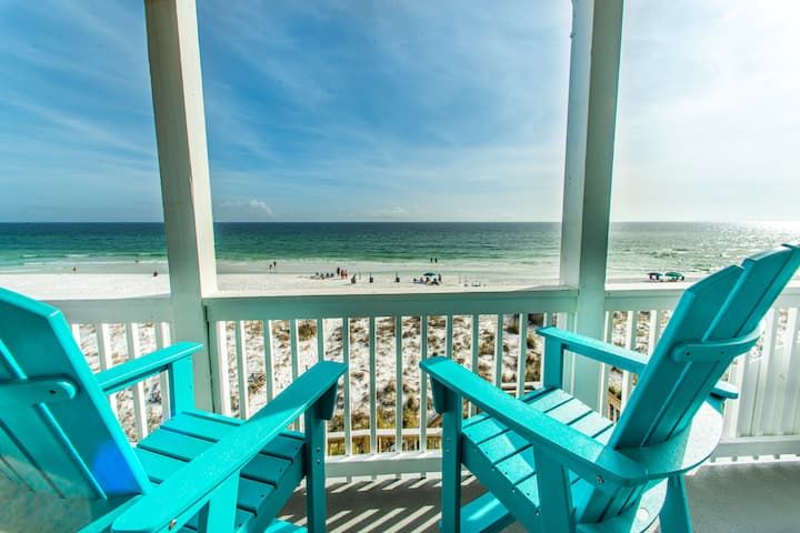 OPEN May 10-12!☀Beachfront☀2 Masters☀Inspected&Disinfected☀5BR Pointe of View