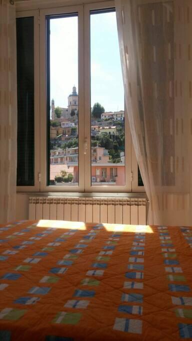 La vista dalla camera da letto