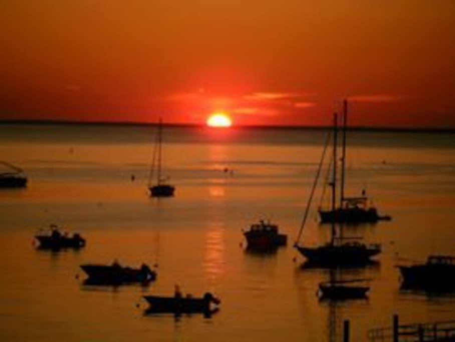 Stunning sunsets over the water every night!